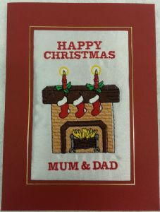 PERSONALISED FIRE PLACE CHRISTMAS CARD